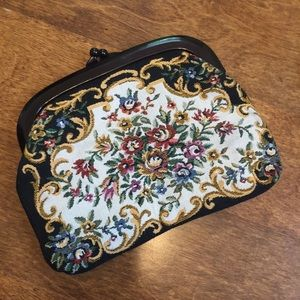 Handbags - Vintage Tapestry Clutch Purse